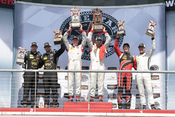 PC Podium: race winners #8 Starworks Motorsports ORECA FLM09: Renger van der Zande, Alex Popow, second place #52 PR1 Mathiasen Motorsports ORECA FLM09: Robert Alon, Tom Kimber-Smith, third place #38 Performance Tech Motorsports ORECA FLM09: James French, Kyle Marcelli