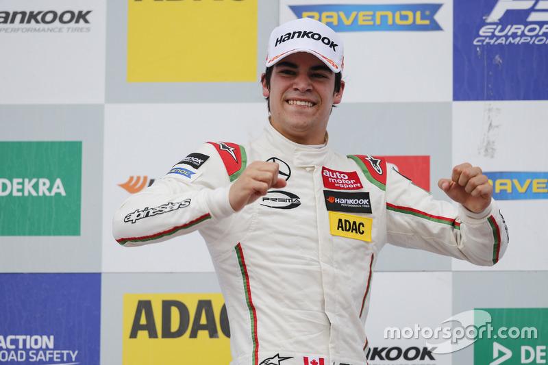 Podium: ganador, Lance Stroll, Prema Powerteam Dallara F312 – Mercedes-Benz