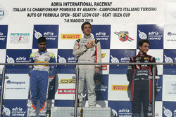 Gara 2 Podio Rookie: Ian Rodriguez Wright, DRZ Benelli, Kush Maini, BVM Racing, Giacomo Altoè, Bhaitech Engineering