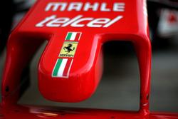 Detalle de la nariz de Ferrari SF16-H
