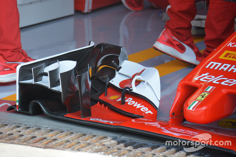 Ferrari SF16-H, Front wing detail