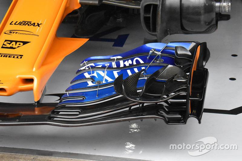 Alerón delantero del McLaren MCL33