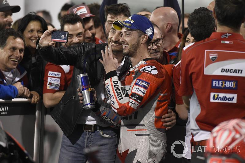 Ganador, Andrea Dovizioso, Ducati Team, Claudio Domenicali