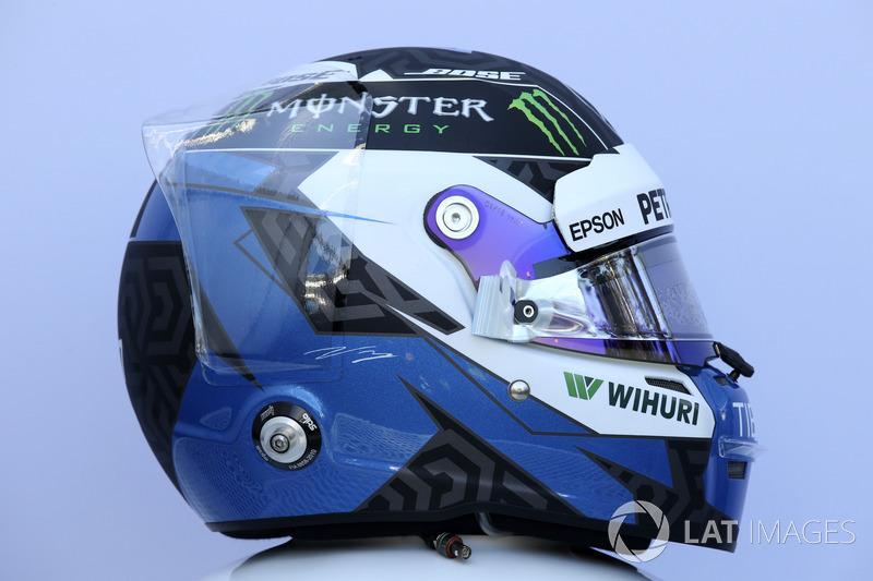 Le casque de Valtteri Bottas, Mercedes-AMG F1