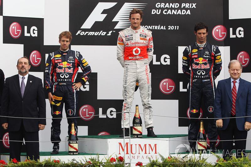 Podium: 1. Jenson Button, McLaren; 2. Sebastian Vettel, Red Bull; 3. Mark Webber, Red Bull