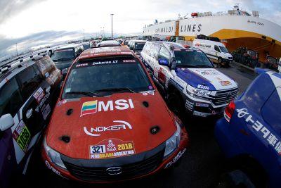 Transport der Teams nach Lima
