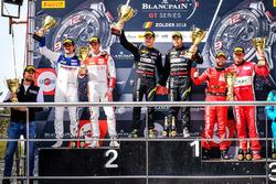 Podium AM: Race winner #39 TP 12 - Kessel Racing Ferrari 488 GT3: Piti Bhirombhakdi, Carlo Van Dam, second place #26 Sainteloc Racing Audi R8 LMS: Nyls Stievenart, Markus Winkelhock, third place #11 Kessel Racing Ferrari 488 GT3: Michael Broniszewski, Giacomo Piccini