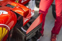 Ferrari SF70H, dettaglio aerodinamico e della presa d'aria
