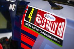 Car detail of Hayden Paddon, Sebastian Marshall, Hyundai i20 WRC, Hyundai Motorsport