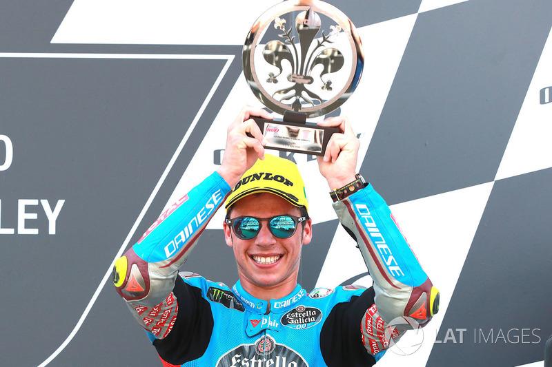 Podio: il terzo classificato Joan Mir, Marc VDS Moto2