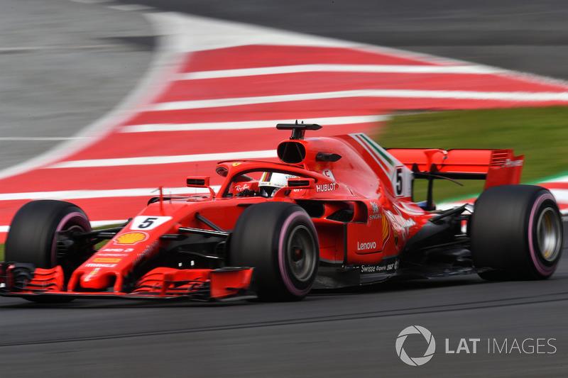 1º Sebastian Vettel, Ferrari SF71H: 1:17.182 (Hiperblandos)