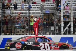 Christopher Bell, Joe Gibbs Racing, Toyota Camry Rheem celebrates after winning