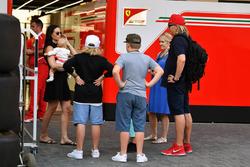 Minttu Virtanen, wife of Kimi Raikkonen, Ferrari with daughter Rianna Raikkonen and family