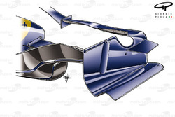 Renault R28 2008 front wing rear view