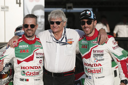 Tiago Monteiro, Honda Racing Team JAS, Honda Civic WTCC, Alessandro Mariani, Team principal Honda Racing Team JAS, Esteban Guerrieri, Honda Racing Team JAS, Honda Civic WTCC