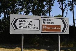 Silverstone Village road signs