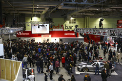 A scenic view of the show, with Nigel Mansell on the Autosport Stage