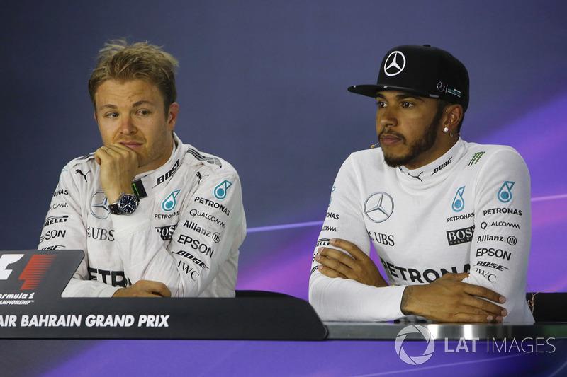 Basın toplantısı: Lewis Hamilton, Mercedes AMG ve Nico Rosberg, Mercedes AMG