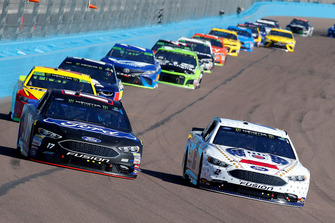 Brad Keselowski, Team Penske, Ford Fusion Miller Lite and Ricky Stenhouse Jr., Roush Fenway Racing, Ford Fusion Ford