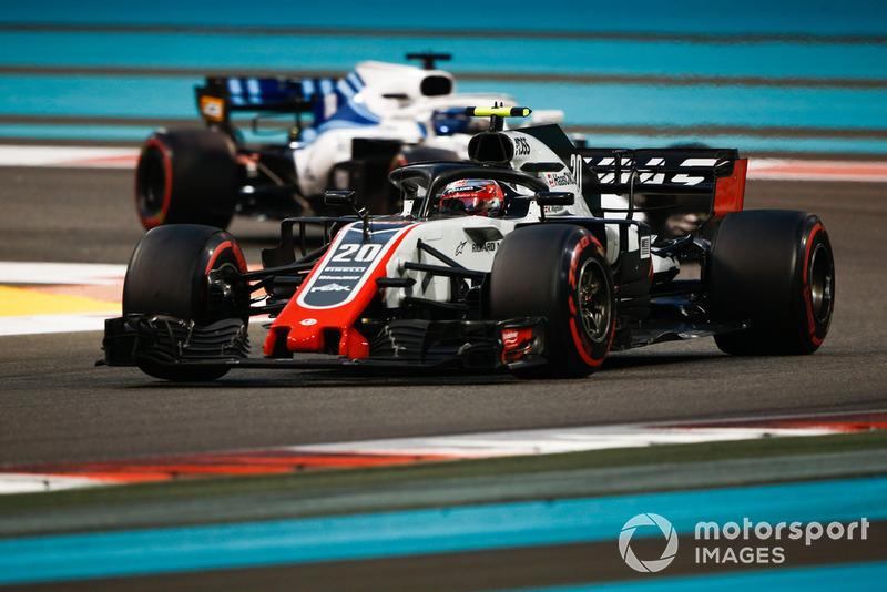 Kevin Magnussen, Haas F1 Team VF-18 y Lance Stroll, Williams FW41