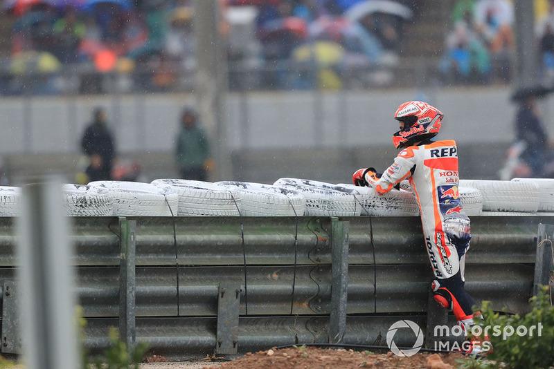 Marc Marquez, Repsol Honda Team, setelah terjatuh