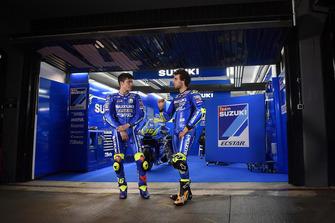 Joan Mir e Alex Rins, Suzuki Ecstar MotoGP Team, al circuito di Valencia