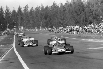Ganador de la carrera Jacky Ickx, Ferrari 312B, Jackie Stewart, Tyrrell 001, Clay Regazzoni, Ferrari 312B
