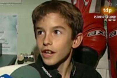 Marc Marquez im Alter von zehn Jahren