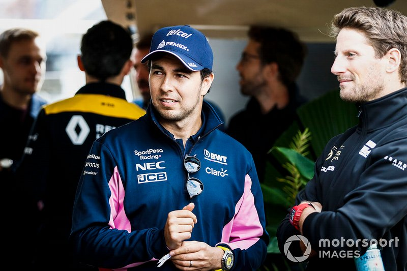 Sergio Perez, Racing Point, si dirige verso l'evento a Federation Square