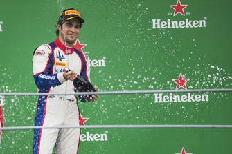 Podium: race winner Pedro Piquet, Trident
