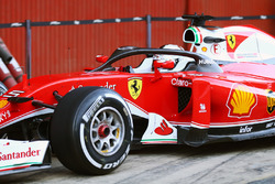 Sebastian Vettel, Ferrari SF16-H met de halo cockpit