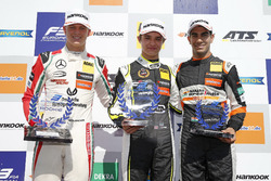 Rookie Podium: Winner Lando Norris, Carlin Dallara F317 - Volkswagen, second place Mick Schumacher, Prema Powerteam, Dallara F317 - Mercedes-Benz, third place Jehan Daruvala, Carlin, Dallara F317 - Volkswagen