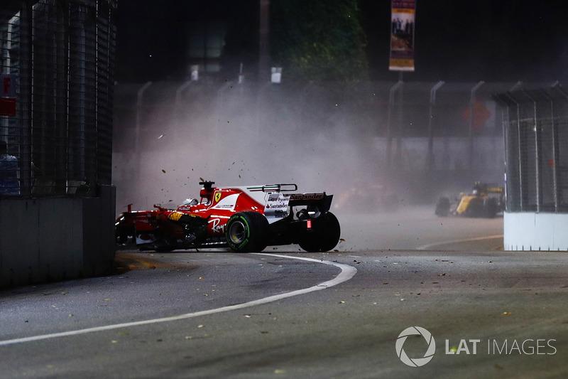 Unfall: Sebastian Vettel, Ferrari SF70H