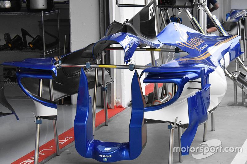 Аеродинамічні елементи Sauber C36