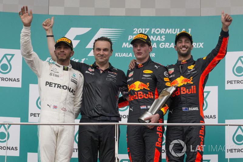 Льюіс Хемілтон, Mercedes AMG F1, Макс Ферстаппен, Даніель Ріккардо, Red Bull Racing, керівник аеродинамічного відділу Red Bull Racing Ден Фоллоус