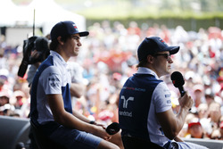 Felipe Massa, Williams, Lance Stroll, Williams, on the F1 stage