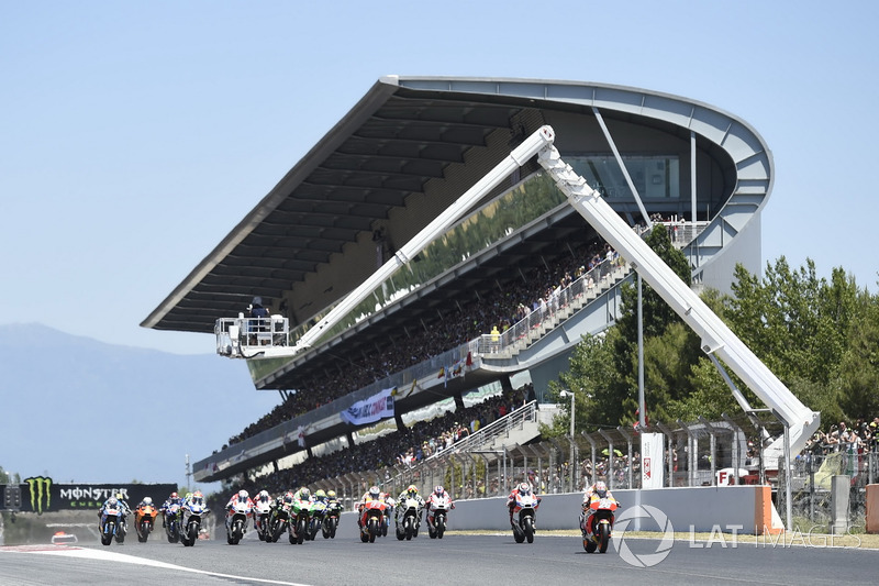 Dani Pedrosa, Repsol Honda Team, leads at the start