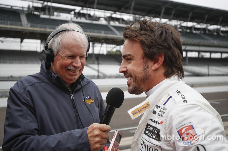 Фернандо Алонсо, Andretti Autosport Honda, и Робин Миллер