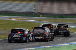 Petter Solberg, PSRX Volkswagen Sweden, VW Polo GTi; Guerlain Chicherit, GCK, Renault Clio