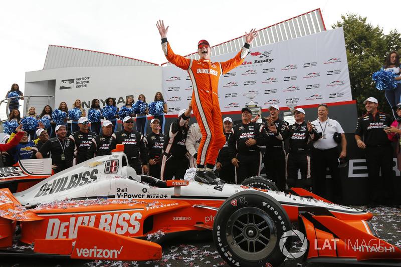 3. Ganador Josef Newgarden, Team Penske Chevrolet