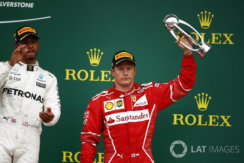 1. Lewis Hamilton, Mercedes AMG F1; 3. Kimi Raikkonen, Ferrari