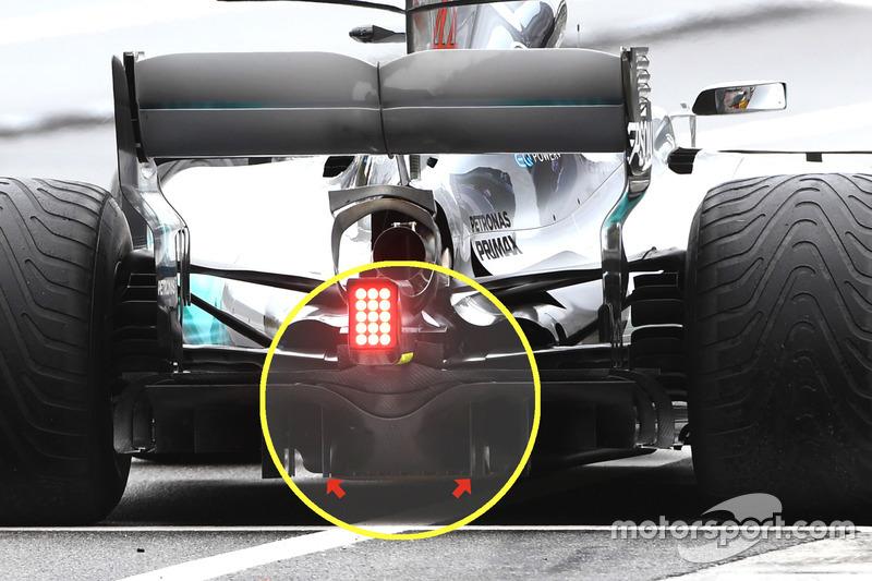 Mercedes F1 W08: Diffusor