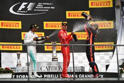 Podium: Lewis Hamilton, Mercedes AMG F1, Sebastian Vettel, Ferrari and Daniel Ricciardo, Red Bull Racing