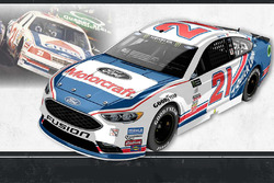 Throwback-Design: Ryan Blaney, Wood Brothers Racing Ford
