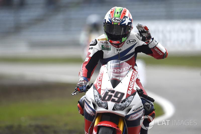 Il terzo classificato Nicky Hayden, Honda World Superbike Team