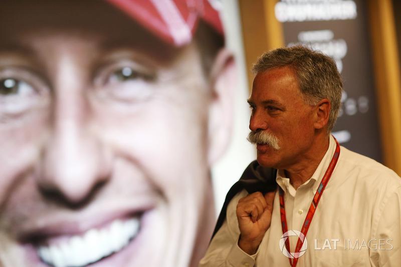 Чейз Кері, голова групи Формули 1, портрет Міхаеля Шумахера