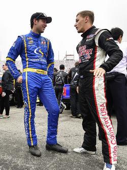 Chase Briscoe, Brad Keselowski Racing Ford, Parker Kligerman, Henderson Motorsports Toyota