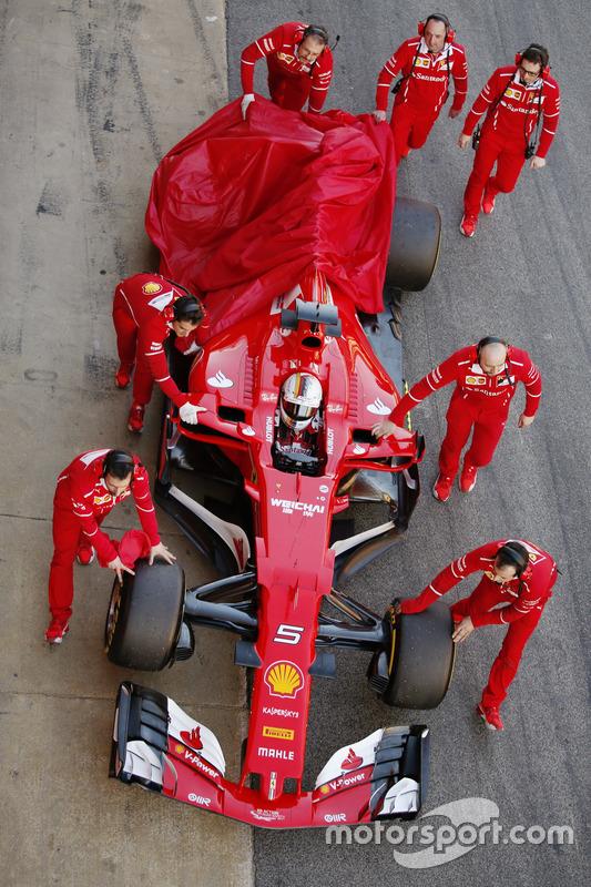 Defekt: Sebastian Vettel, Ferrari SF70H