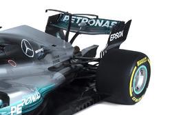 Mercedes AMG F1 W08: Winglet und Heckflügel