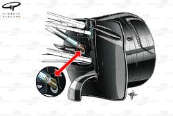 Williams FW36 push rod detail